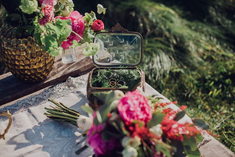 Engagement Shoot On The Cliffside In Asturias With Incredible Floral Ceremony Arch