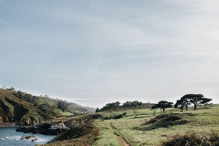 Cliffside In Asturias Spain