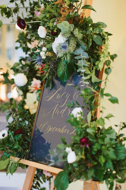 Table Plan with Floral Decor