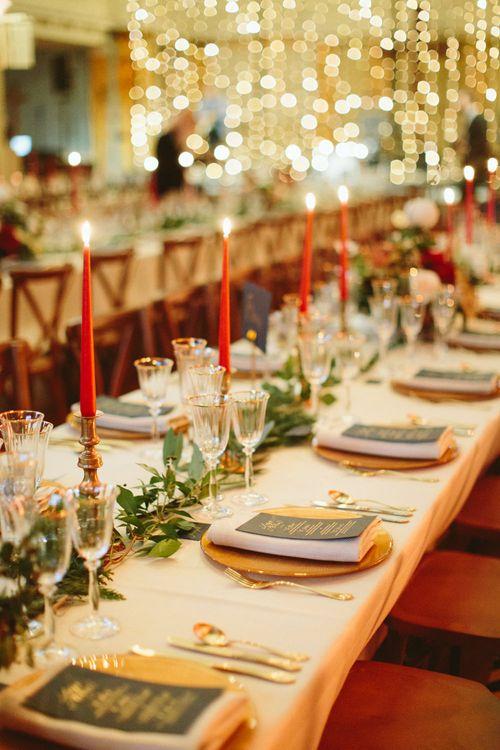 Elegant Gold Table Setting