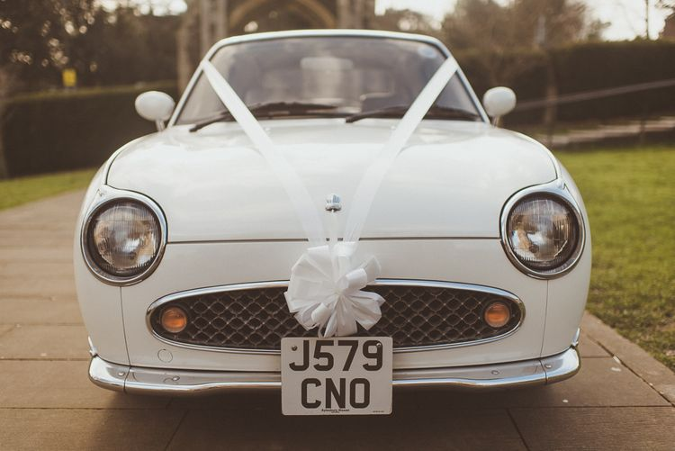 White Figaro Wedding Car   Matt Penberthy Photography