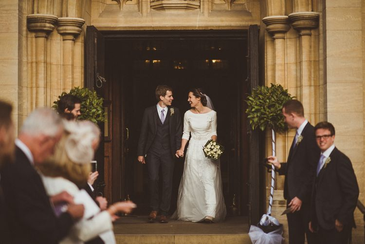 Catholic Church Ceremony at Sacred Heart in Wimbledon   Bride in JLM Couture Ti-Adora Wedding Dress   Groom in Moss Bros Suit   Matt Penberthy Photography
