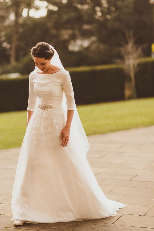 Bride in JLM Couture Ti-Adora Wedding Dress   Matt Penberthy Photography