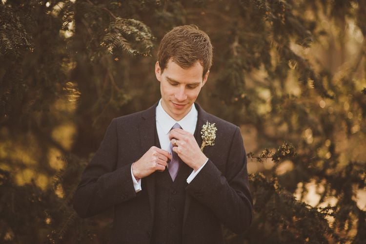 Groom in Moss Bros Suit   Matt Penberthy Photography