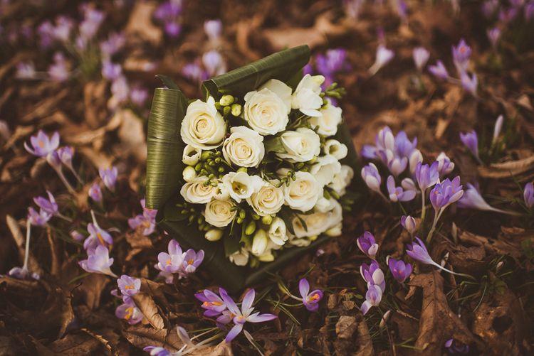 Classic White Rose Bridal Bouquet   Matt Penberthy Photography