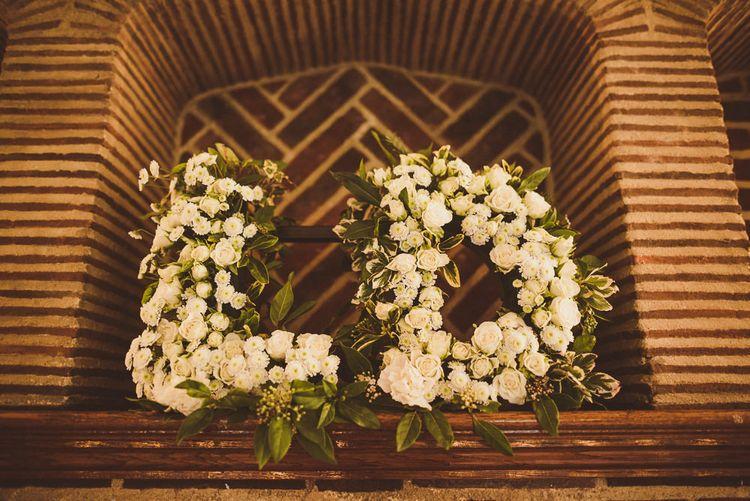 Floral Monogram Letters Wedding Decor   Matt Penberthy Photography