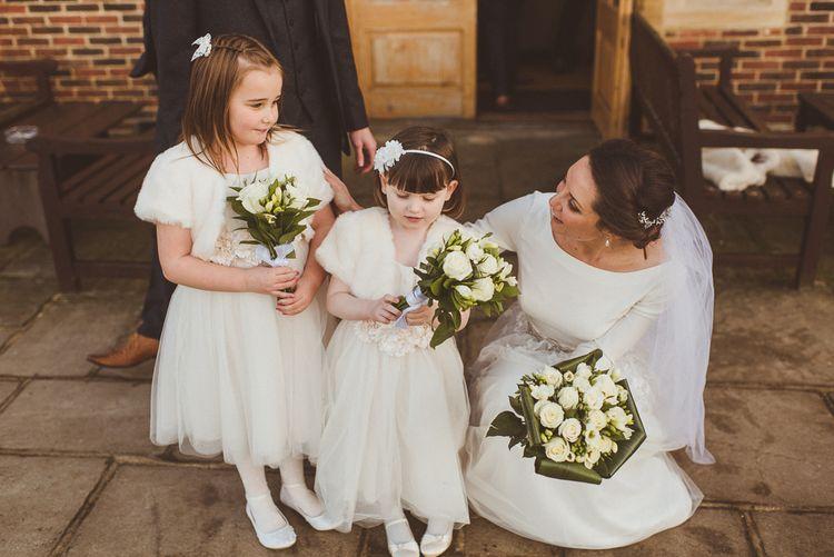 Flower Girls in Monsoon   Bride in JLM Couture Ti-Adora Wedding Dress   Matt Penberthy Photography