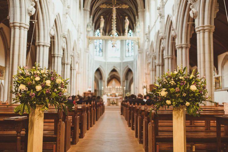 Wedding Flowers   Catholic Church Ceremony at Sacred Heart in Wimbledon   Matt Penberthy Photography