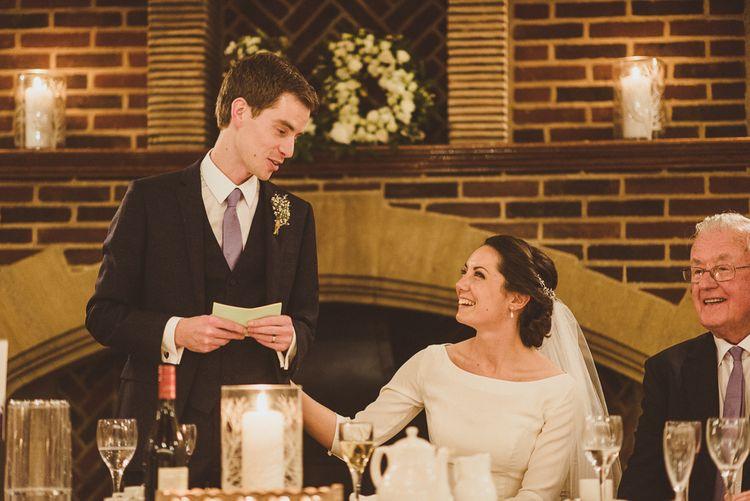 Wedding Speeches   Bride in JLM Couture Ti-Adora Wedding Dress   Groom in Moss Bros Suit   Matt Penberthy Photography
