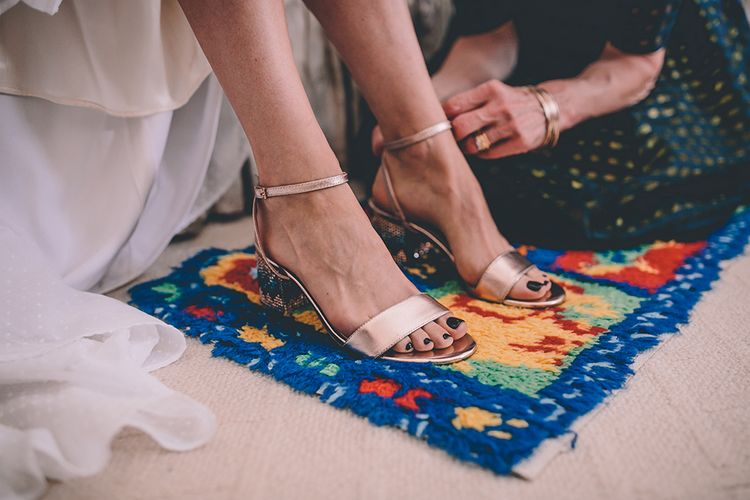 Dune Wedding Shoes | Classic Marquee Wedding at Kimberley Hall in Norfolk | Story + Colour Photography | Driftend Films