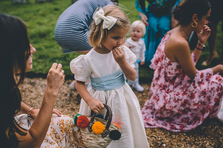 Flower Girl | Classic Marquee Wedding at Kimberley Hall in Norfolk | Story + Colour Photography | Driftend Films