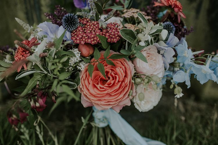 Colourful Wild Flower Bouquet by Joanne Truby | Lola Rose Photography