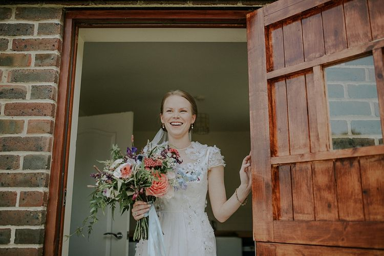 Bride in Alice Temperley Gown | Lola Rose Photography