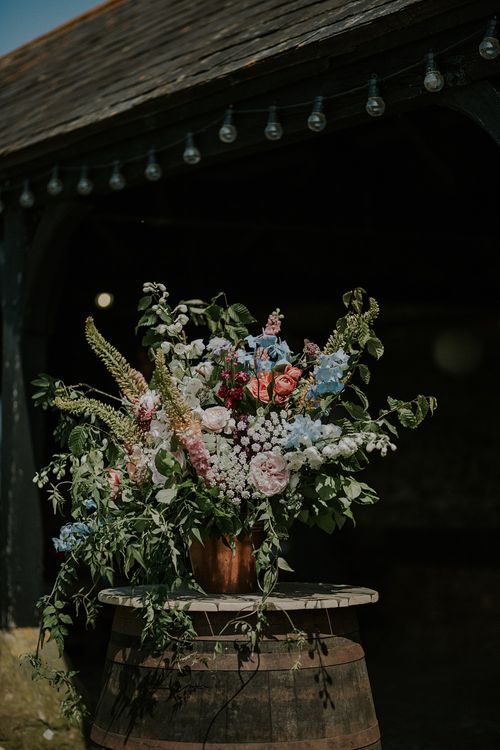 Colourful Wild Flower Arrangement by Joanne Truby | Lola Rose Photography