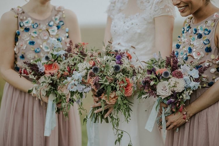 Colourful Wild Flower Bouquets by Joanne Truby | Lola Rose Photography