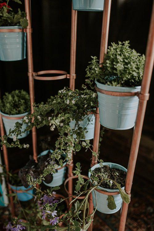 Plant Pot Wedding Decor | Wedding Decor | Elmley Nature Reserve Wedding | Lola Rose Photography
