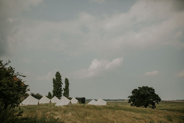 Bell Tents | Elmley Nature Reserve Wedding | Lola Rose Photography