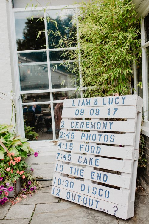 Wooden Palette Wedding Sign