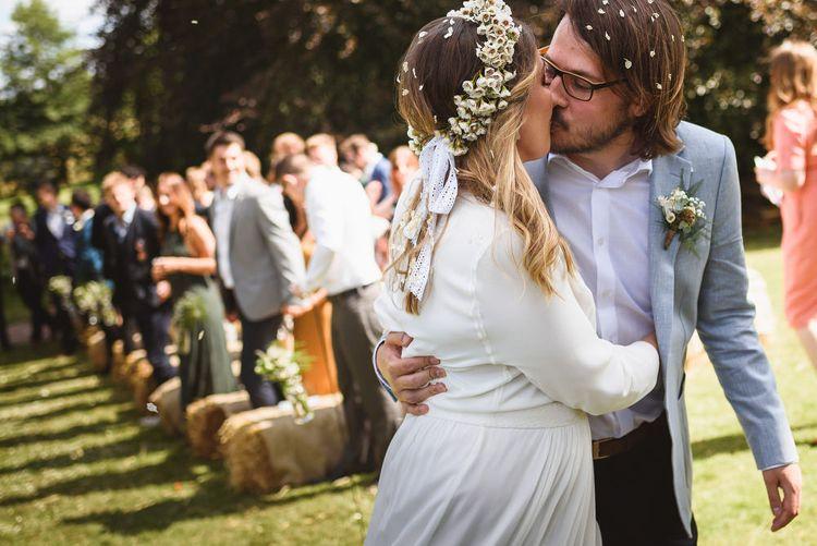 Bride & Groom Outdoor Humanist Wedding Ceremony