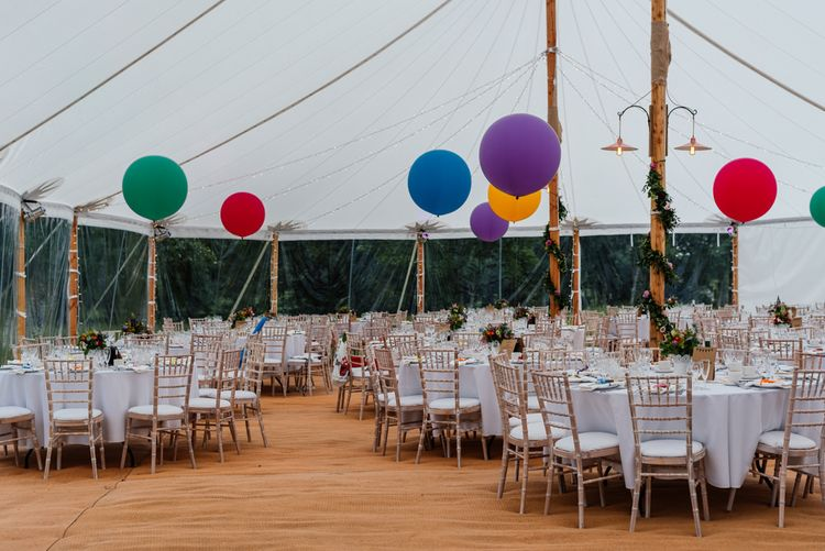 Marquee Decor - Bright Colours