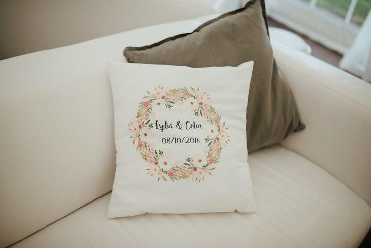 Bespoke Wedding Date Cushion | The Lou's Photography