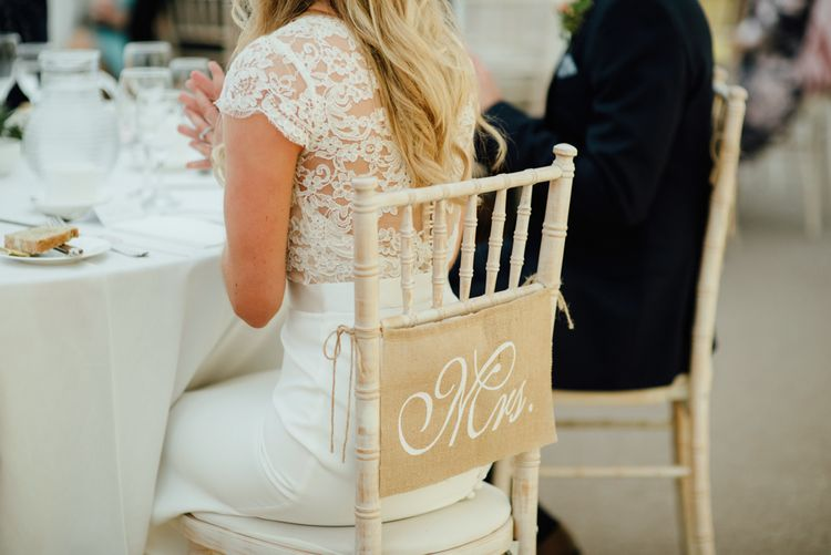 Hessian 'Mrs' Chair Back Decor | The Lou's Photography