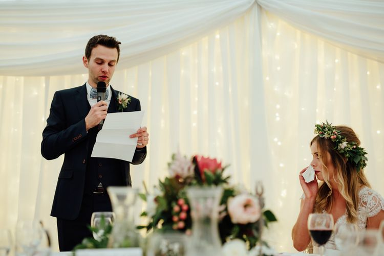 Wedding Speeches | Top Table Decor | The Lou's Photography