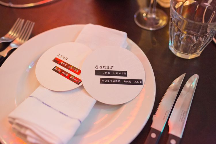 DIY Beer Mats and Place Name Settings | Cotton Candy Photography