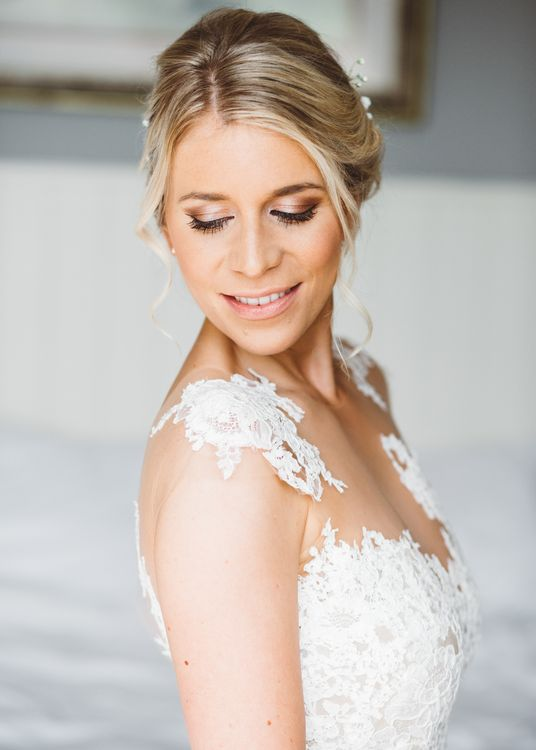 Beautiful Bride With Elegant Up Do For Wedding