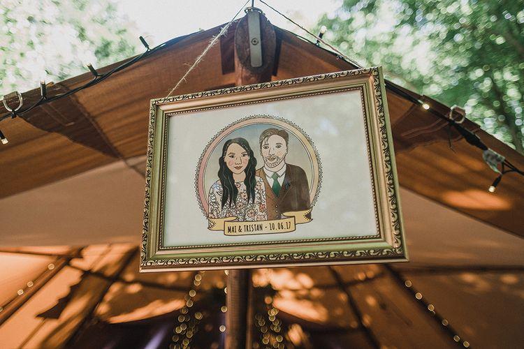Bespoke Artwork Of The Bride & Groom