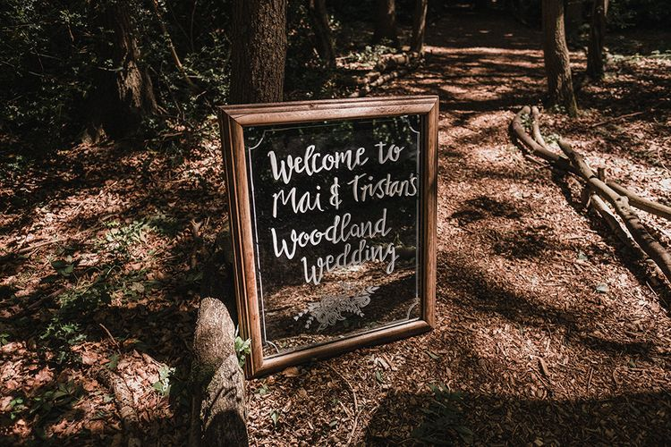 Chalkboard Welcome Sign For Wedding