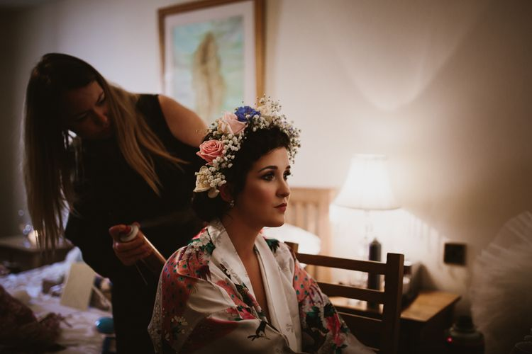 Getting Ready | Bridal Beauty | Flower Crown | Ally M Photography