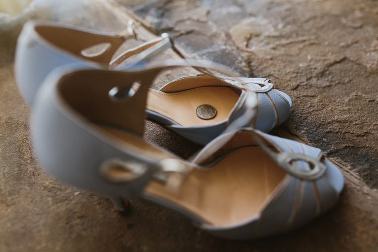 Rachel Simpson Mimosa Blue Bridal Shoes | Ally M Photography