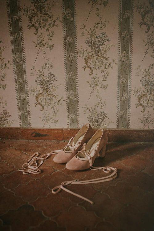 Beautiful Suede Wedding Shoes