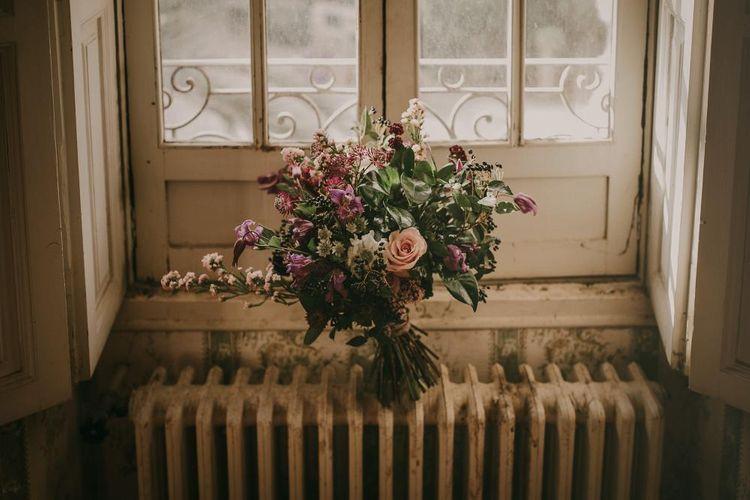 Rustic Wedding Bouquet In Pinks & Greens