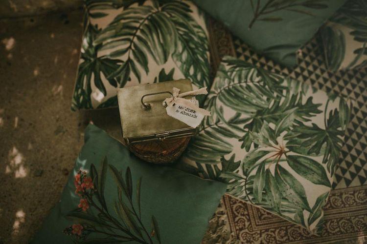 Tropical Leaf Print Wedding Decor