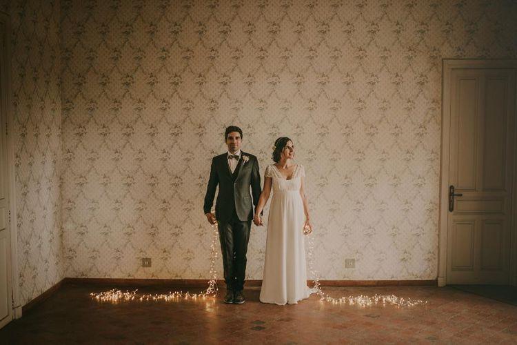 Bride in Laure De Sagazan | Outdoor Wedding Alicante | Paloma Cruz Eventos