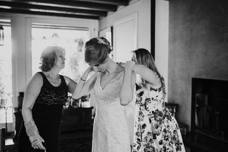 Getting Ready   David's Bridal Wedding Dress   Intimate Love Memories Photography