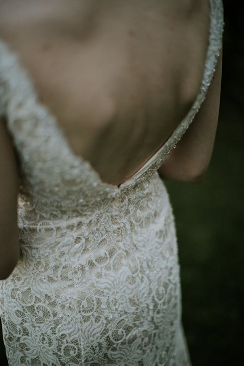 Bride in David's Bridal Wedding Dress   Intimate Love Memories Photography