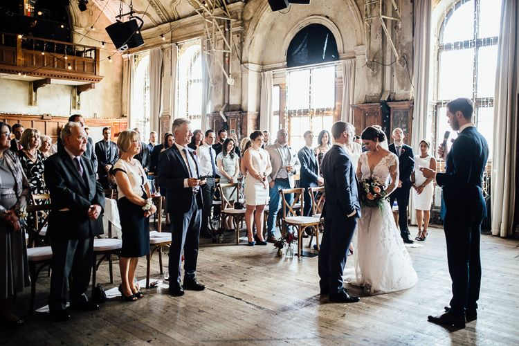 Stunning Ceremony at Battersea Arts Centre Photography by Beatrici Photography