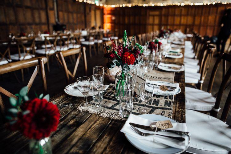 Food for Wedding Reception. Beautiful blooms by Rock My Wedding The List's Supplier Daisy Ellen