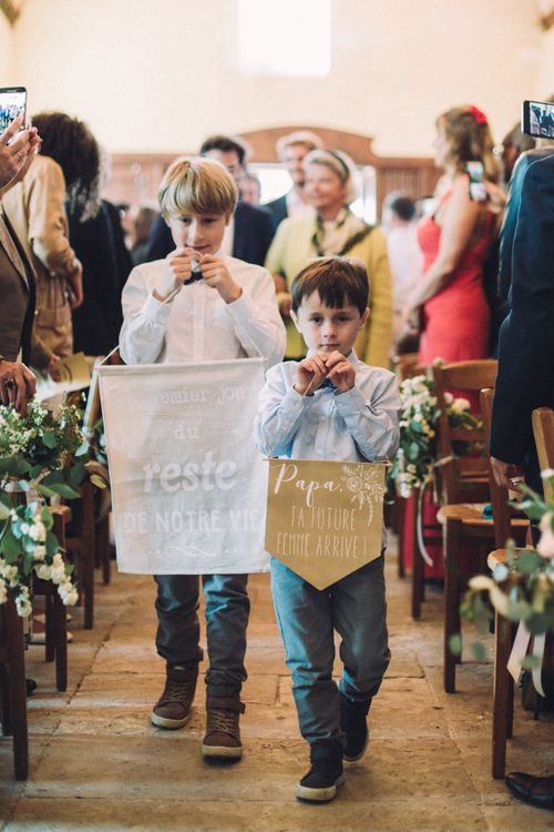Page Boys At Wedding // Rime Arodaky Bride For A Stylish Artistic & Bohemian French Wedding At La Dime De Giverny France With Images From Paris Wedding Photographer Juli Etta