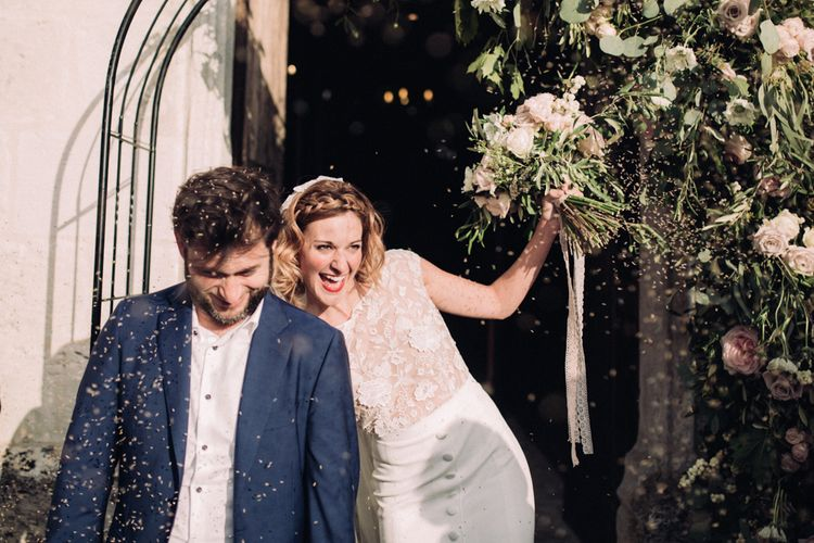 Just Married // Rime Arodaky Bride For A Stylish Artistic & Bohemian French Wedding At La Dime De Giverny France With Images From Paris Wedding Photographer Juli Etta