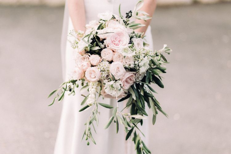 Pink & White Wedding Bouquet // Rime Arodaky Bride For A Stylish Artistic & Bohemian French Wedding At La Dime De Giverny France With Images From Paris Wedding Photographer Juli Etta