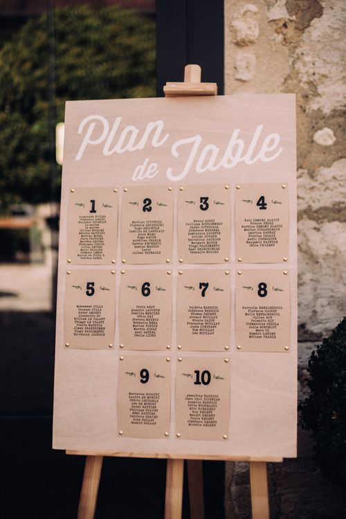 Wedding Table Plan // Rime Arodaky Bride For A Stylish Artistic & Bohemian French Wedding At La Dime De Giverny France With Images From Paris Wedding Photographer Juli Etta