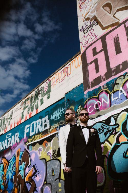 Groom & Groom in Tuxedos