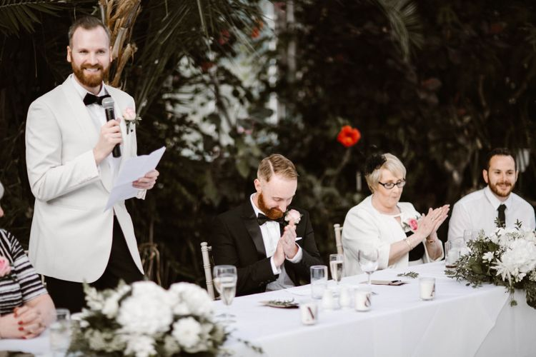Wedding Speeches at Sefton Park Palm House Wedding