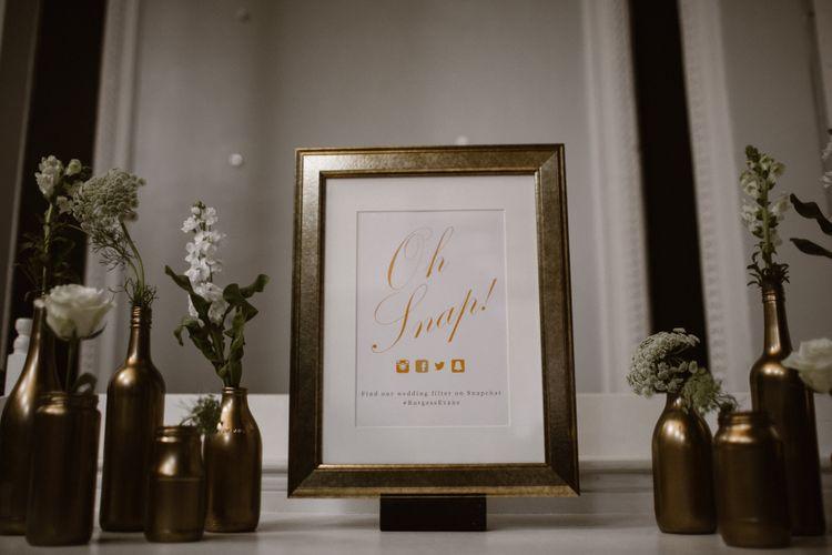 Gold & White Wedding Decor