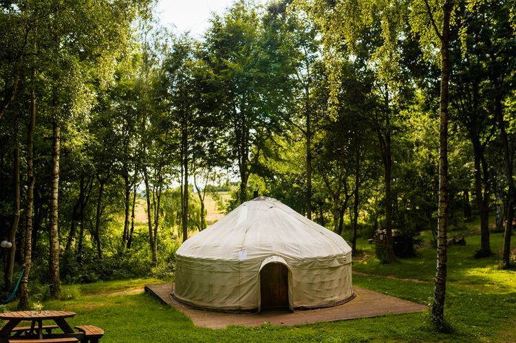 Festival Wedding With A Yurt & Bell Tent Camping