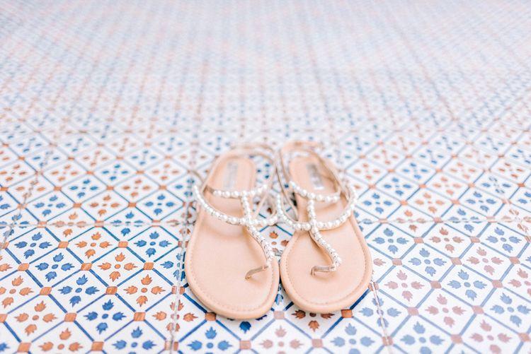 Pretty Bridal Sandals For A Destination Wedding